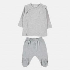 conjunto primera puesta petit oh gris