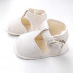 sandalias bebe de vestir beige vista lateral