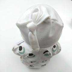 conjunto primera puesta bebe de petit oh gris y verde por detras