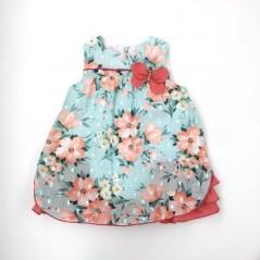 vestido vestir bebe de verano flores coral
