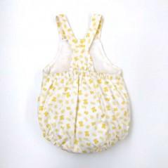 pelele verano de bebe tous amarillo por detras