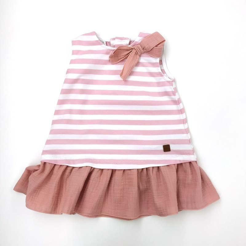vestido bebe niña verano de paz rodriguez rosa