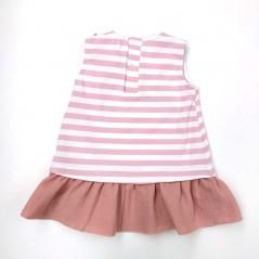 vestido bebe niña verano de paz rodriguez rosa por detras