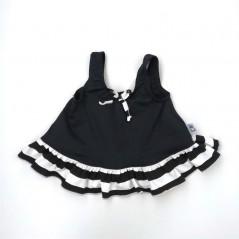 vestido baño bebe negro y blanco marena