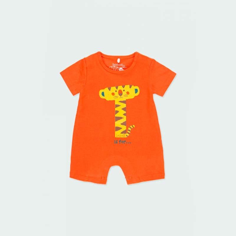 pelele bebe de verano naranja de boboli