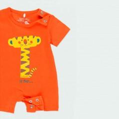 obertura pierna pelele bebe de verano naranja de boboli