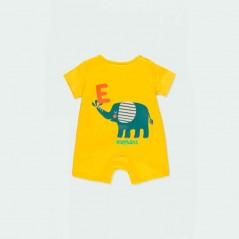 pelele bebe verano amarillo boboli por detras