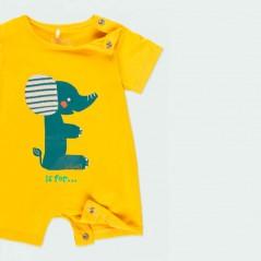 obertura pierna pelele bebe verano amarillo boboli
