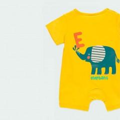 detalle pelele bebe verano amarillo boboli por detras
