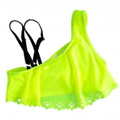 parte de arriba bikini niña ido amarillo fluor