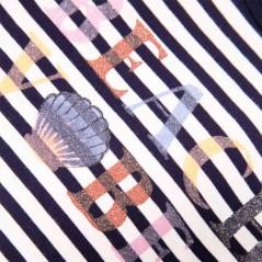 estampado camiseta niña garcia jeans rayas marino