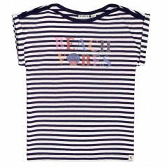 camiseta niña garcia jeans rayas marino