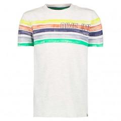 camiseta manga corta niño rayas de colores garcia jeans