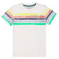 camiseta manga corta niño rayas de colores