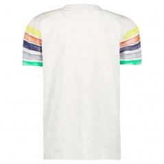camiseta manga corta niño rayas de colores garcia jeans por detras
