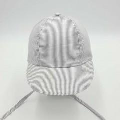 gorra bebe rayas grises de monnuage