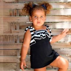 vestido veraniego niña de marena negro y blanco