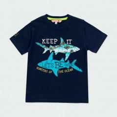 camiseta boboli niño de tiburones