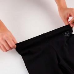detalle cintura leggins pirata niña de boboli negros