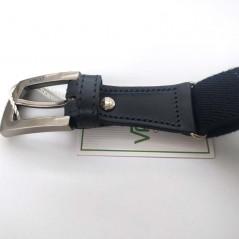 detalle hebilla cinturon niño elastcio azul marino de vaello