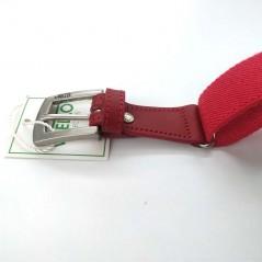 detalle hebilla cinturon niño elastico rojo de vaello