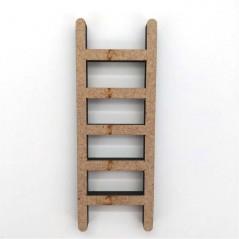 escalera miniatura de madera puerta amarilla