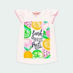 camiseta niña estampado frutas boboli