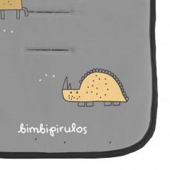 estampado dinosaurios colchoneta carro univeresal gris marengo de bimbidreams