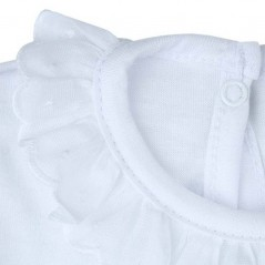detalle body bebe manga corta blanco de rapife