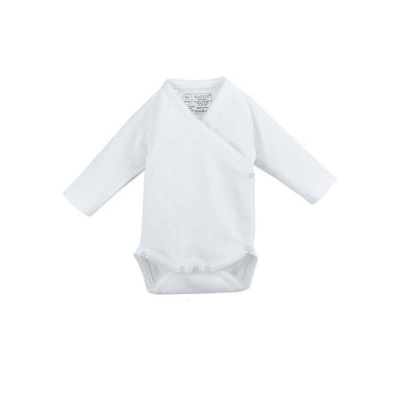 body bebe manga larga blanco neonatos de rapife