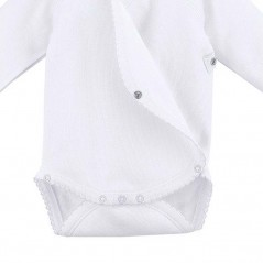 obertura pañal body bebe manga larga blanco neonatos de rapife