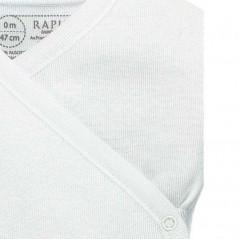detalle cuelo body bebe manga corta algodon blanco de rapife