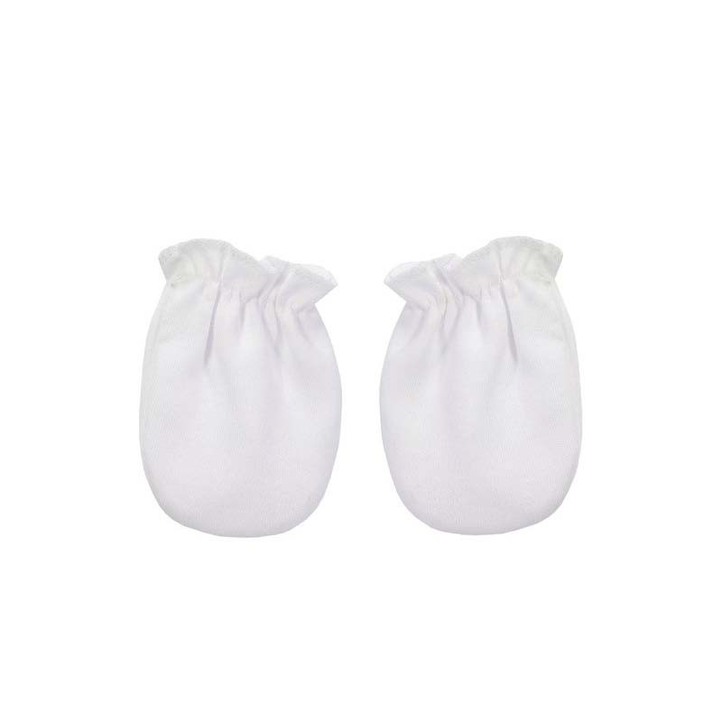manoplas bebe recien nacido blancas de rapife