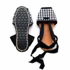alpargatas caretes vlc shoes cuadro vichy con vista de suela