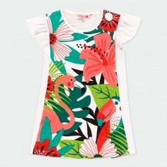 vestido verano niña de boboli estampado tropical