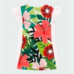 vestido verano niña de boboli estampado tropical por detras
