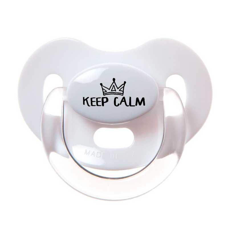 chupete latex bebé blanco frase keep calm