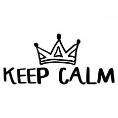 frase keep calm chupete bebe blanco