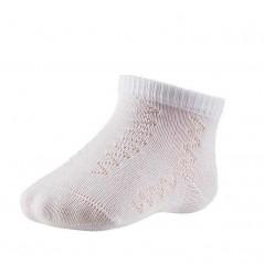 calcetines bebe algodón calados de color blancos ysabel mora