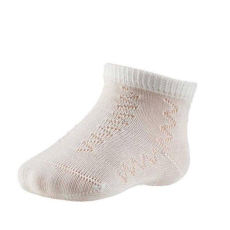calcetines bebe calados crudos de ysabel mora