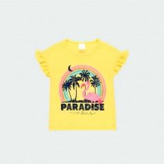 camiseta niña verano amarilla de boboli