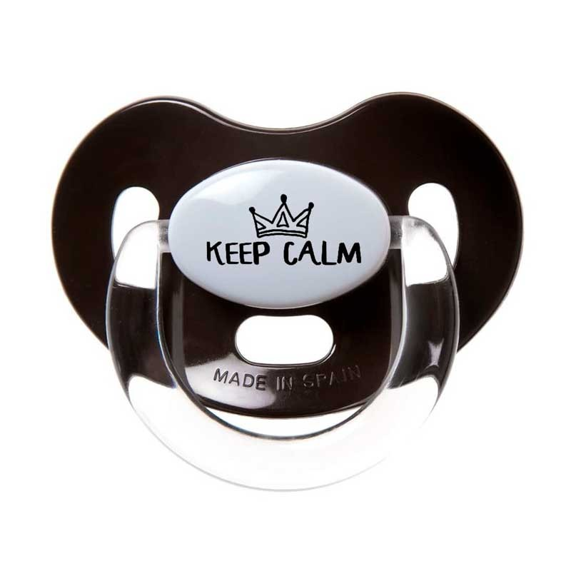 chupete latex negro keep calm