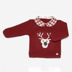 jersey conjunto bebe juliana rojo vino de reno
