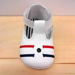 zapatos bebe cuquito blancos con velcro