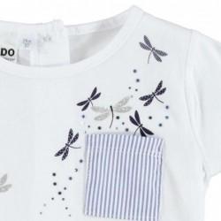 camiseta niña ido de manga corta  de libelulas