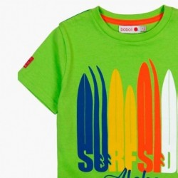 camiseta niño boboli de surf verde