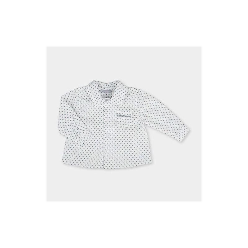 camisa bebe manga larga blanca tutto piccolo