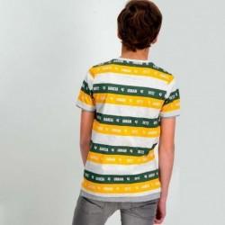 camiseta niño garcia jeans amarilla y verde