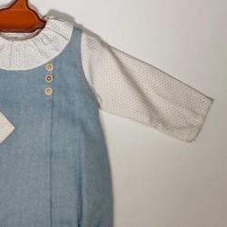 pelele bebe invierno azul rochy_detalle