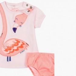 vestido bebe de verano rosa con flamencos